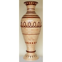 """""""Vaso in acero e paduk"""" 952 pezzi artigianato sardo"""