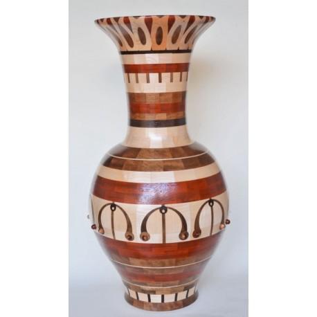 Vaso in legni vari 760 pezzi artigianato sardo